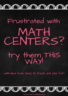 How I FINALLY Made Math Centers Work in My Classroom | First Belle
