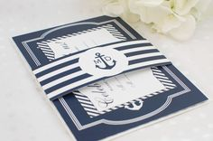Nautical Wedding Invitation Suite // Deposit // by lestudios, $45.00