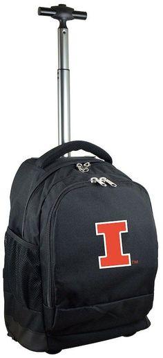 NCAA Illinois Fighting Illini Premium Wheeled Backpack