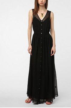 Sheer Black Tank Dress