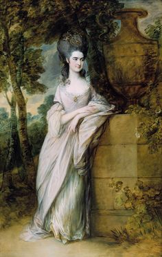 Thomas Gainsborough, Henrietta Read, c. 1777. The painting is installed on the ground floor of the Huntington Art Gallery, facing the central staircase. The Huntington Library, Art Collections, and Botanical Gardens.