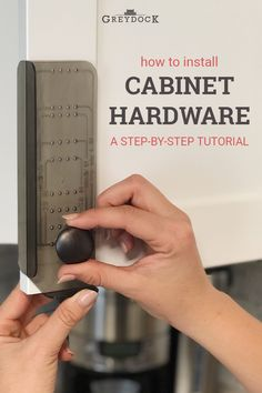 Put the finishing touch on your kitchen cabinets with new hardware. Learn how to install knobs and pulls the easy, stress-free way with our installation guide! Kitchen Cabinet Hardware, New Cabinet, New Kitchen Cabinets, Painting Kitchen Cabinets, Cabinet Handles, How To Install Kitchen Cabinets, Knobs For Kitchen Cabinets, Hardware For Cabinets, Kitchen Knobs And Pulls