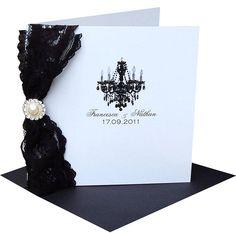 Paris Lace Vintage Style Wedding Invitation
