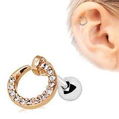 0de50d25c Rose Gold Jeweled Circular Ring Cartilage Earring. Unique JewelryUnique ...