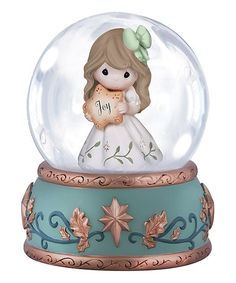 Loving this Girl with Star Snow Globe on #zulily! #zulilyfinds