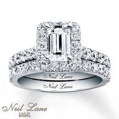 Neil Lane Bridal Set 2 1/2 ct tw Diamonds 14K White Gold $8,999.99