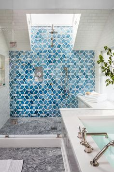 Stunning San Francisco Home — Cobalt + Gold #interiordesign #interiorinspiration #bathroom #blog