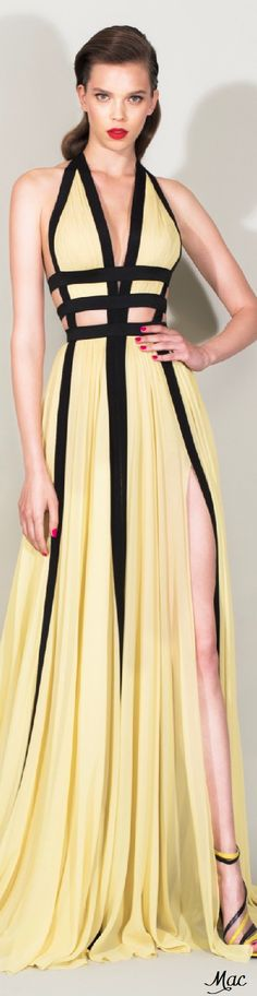 Resort 2016 Zuhair Murad yellow maxi dress women fashion outfit clothing style apparel @roressclothes closet ideas