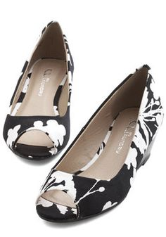 $49.99 ~ All Walks of Life Wedge in Monochrome. #black #modcloth