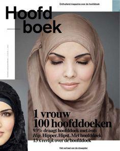 Hoofdboek. Voor dit boek werd eenzelfde model gefotografeerd met 100 verschillende hoofddoeken.