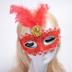 New Half Face Soft Feather Mask Lace Event Party Venetian Ball Masquerade Venetian Mask mascaras venecianas para fiestas P15