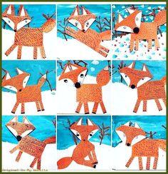 Art elementary school - Fuchs in February Best Picture For kindergarten art projects butterfly For Y Winter Art Projects, Projects For Kids, Crafts For Kids, Fox Crafts, Animal Crafts, Classe D'art, Kindergarten Art Projects, Winter Art Kindergarten, Fox Art