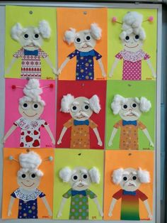 Grandparents Day Crafts, Toddler Rooms, School Themes, 100 Days Of School, 100th Day, Activities For Kids, Preschool, Arts And Crafts, Education