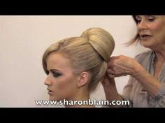 Video tutorial: 1 min 30 secs to a beautiful Audrey Hepburn chignon using insert {via SharonBlain.com}