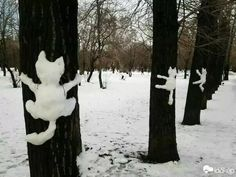 OH my. this is the BEST! :D Cats, Cats, Cats! If we get snow. I'm going to do. Land Art, Funny Animals, Cute Animals, Funny Horses, Snow Sculptures, Winter Fun, Belle Photo, Crazy Cats, Funny Cute