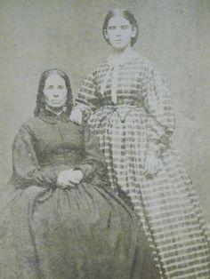 Ladies-Hoop Dress-Long Hair-Civil War Era Fashion-Antique CDV Photo-Portland,ME