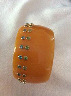 Mark Davis Bracelet Bakelite w/gemstones