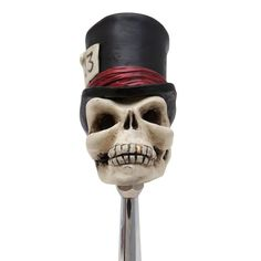 Timmy the Top Hat Skull Custom Shift Knob | johnnylawmotors.com