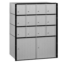 Salsbury Industries 14 Door Rear Load 4B Horizontal Mail Center with 2 Parcel Lockers