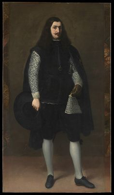 A Knight of Alcántara or Calatrava  Bartolomé Estebán Murillo  (Spanish, Seville 1617–1682 Seville). Looks definitely like first half of 17th century, and that the doublet under the jacket is white embroidered linen.