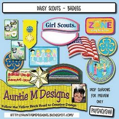 Tons of free Girl Scout digital scrapbook sets!
