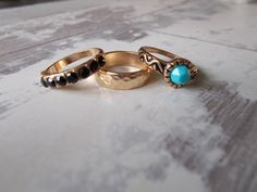 Gold Turquoise Rings Tribal Rings by BreakingHeartsJewels on Etsy, Gold Band Ring, Gold Bands, Turquoise Rings, Turquoise Stone, Gypsy Rings, Midi Rings, Black Rhinestone, Black Rings, Stacking Rings