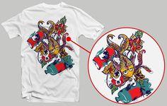Entre Latas e Garrafas - Simulação na camiseta branca