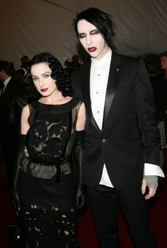 Pin for Later: 17 Old-School Celebrity Couples to Be For Halloween Marilyn Manson and Dita Von Teese