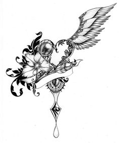 roses drawings with hearts and wings - Google Search
