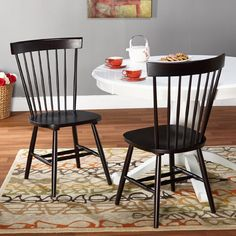 TARGET MARKETING SYSTEMS,Venice Windsor chair -set of 2, Brown