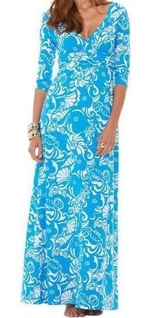 Lilly Pulitzer Gloria Empire Waist Maxi Dress