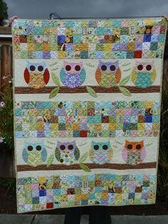 Owl Baby Quilt #spiceberrycottage