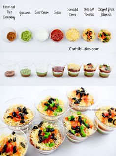 7 LAYER DIP Cups {{individual}} - CINCO DE MAYO party food idea
