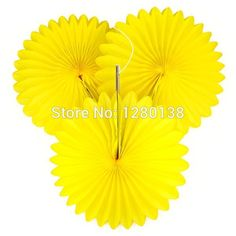 400pcs/lot Party Paper Fan Tissue Flower Fan Vintage Wedding Venue Party Decoration Paper Fan