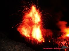 #Nocturnal #Explosion #Of #Stromboli.
