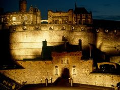 Edinburgh Castle, Scotland, built on a dormant volcano.
