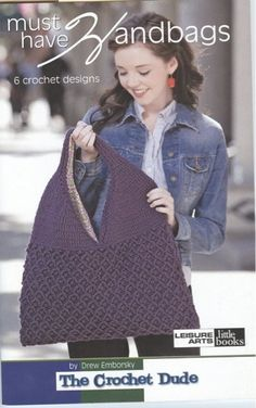 Here's a bag for every reason, with styles that keep you on the cuttingedge of fashion--in crochet! Drew Emborsky's handbag designs give yousix very cool ways to take it all with you. Plus, optional handleinstructions are included for three of the bags! Emborsky, also knownas The Crochet Dude, is famous for his wildly popular blog, magazinefeatures, books, and television appearances. The designs in this bookinclude Barrel Purse, Bucket-Style Tote,