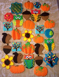 Fall / Thanksgiving cookies