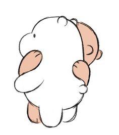we bare bears Art Drawings For Kids, Art Drawings Sketches, Easy Drawings, Animal Drawings, Hugging Drawing, Bear Drawing, Cartoon Network, Hug Cartoon, Bear Tumblr