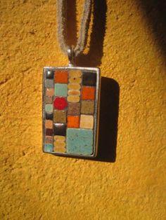 Muir Woods Artisan Mosaic Pendant by StudioSelvaVista on Etsy, $29.00