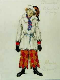 Costume for Petrushka by Benois