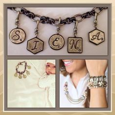 Get your initial charms on my boutique for only $18 !  www.chloeandisabel.com/boutique/jenwinegarden