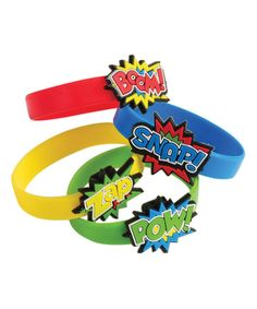 Another great find on #zulily! Superhero Rubber Bracelet - Set of 12 #zulilyfinds