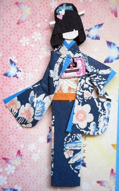 All-purpose handmade card 41_closeup of doll