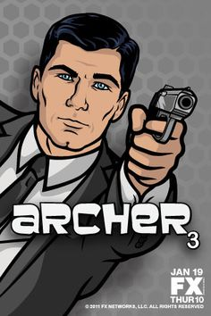 Archer Season 3 Starts January on FX! Archer Tv Series, Archer Tv Show, Archer Fx, Archer Cartoon, Boondocks Drawings, Sterling Archer, Movies Worth Watching, Adult Cartoons, Geek Chic