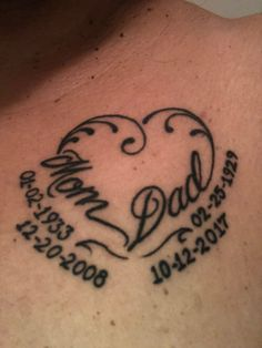 In memory of mom & dad. #FamilyTattooIdeas