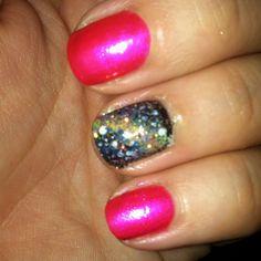 Galaxy nails. Super easy.