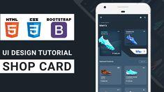 Ui Design Tutorial, Design Tutorials, Card Ui, Tracking App, Travel Cards, Teaser, Channel, Education, Watch