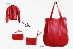 turning a leather jacket into a bag - Google Search