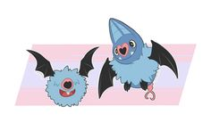 Woobat and Swoobat